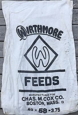 2 - Vintage feed sacks Wirthmore and Park& Pollard - VG Condition