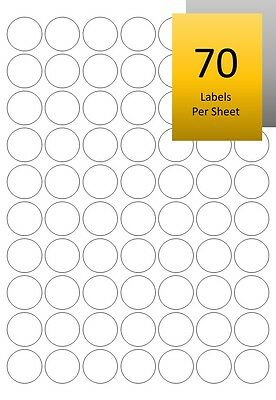 Gold/Silver Sticky Address Labels - Round/Circular Laser Printable Mini Stickers