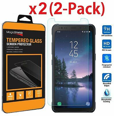 2 Pack Premium Tempered Glass Screen Protector for Samsung Galaxy S8 ACTIVE