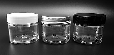 50ml Clear Empty Pots, jars, containers for crafts, beads, storage & creams