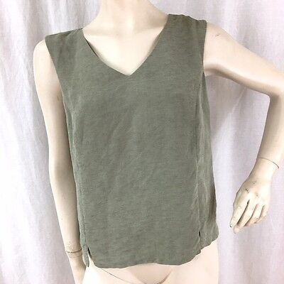 0f78a2184f5430 Tommy Bahama Womens Sleeveless Green 100% Silk Lined Tank Top Blouse Size L