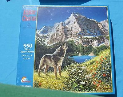 """Wolf Jigsaw Puzzle """"Alpine Chorus""""  550 pieces - New in Sealed Box"""