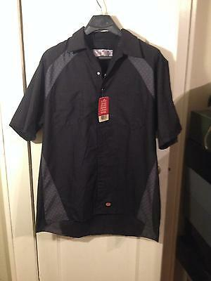 Mechanics Automotive Motorsport Industrial Shop Shirt Diamond Plate Black Gray