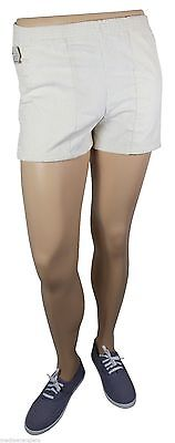 "NEW VTG 80s LEVI'S Corduroy SHORT SHORTS 27"" Waist Youth Medium 10-12 Ivory NWT"