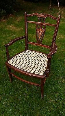Beautiful antique chair with cane seat
