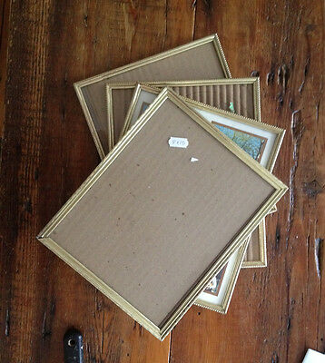 Vintage Gold-Tone 8x10 Easel-Backed Picture Frames, Lot of 4