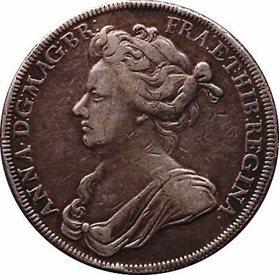 1702 Coronation Medal of Queen Anne Variety with FRA: in legend - SILVER