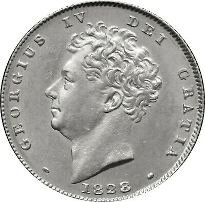1828 George IV SixPence Silver Coin