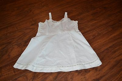 C0- Vintage Her Majesty Adjustable Strap Cotton Blend Slip Size 6