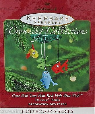 2000 Hallmark One Fish Two Fish Red Blue Dr. Seuss Ornament Book Series #2 2nd