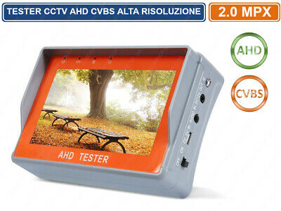 TESTER CCTV DA POLSO  ALL IN ONE AHD FULL 1080p  VIDEOSORVEGLIANZA MONITOR 4.3""