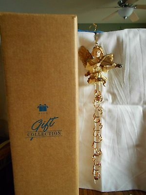 "Avon Gift Collection Sparkling Icicle Ornament Angel 9"" Christmas Ornament 1997"
