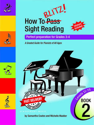 How To Blitz Sight Reading Book 2 Grades 3 & 4  - Samantha Coates