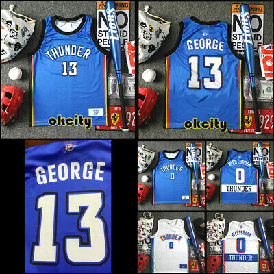 #0 Russell Westbrook Oklahoma City Thunder OKC Jersey Men Child Basketball Vest
