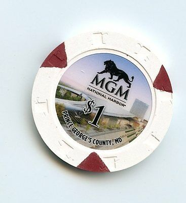 1.00 Chip from the MGM National Harbor Casino in Prince Georges County Maryland