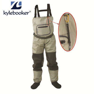 Fishing Stocking Foot Waterproof Breathable Chest Waders With Accidently Rope