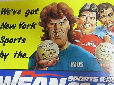 1991 WFAN Imus , Mike And The Mad Dog Original Print Ad-Mort Drucker-8.5x10.5""
