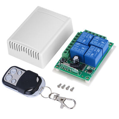 DC12V 4-Channel 433MHZ Wireless Garage Door Control Relay Switch Receiver Board