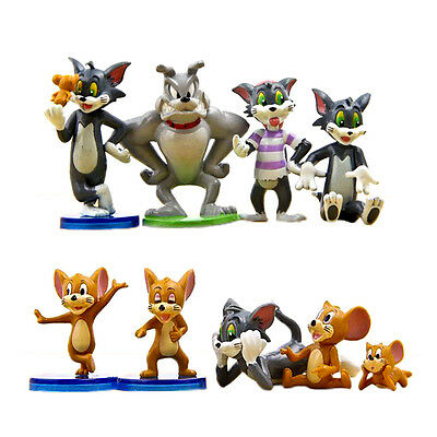 Tom and Jerry 9PCS Playset Action Figures Game Kids Toys Gift Spike Figures Set