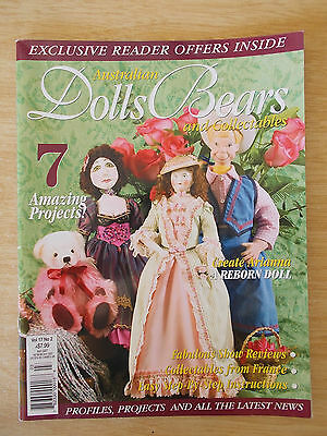 ADB&C Vol 17 #2~Doll & Bear Pattern~Reborn Arianna~Cowgirl~Strawberry Delight...