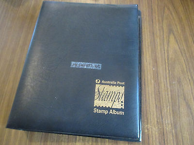 4--Stamp  Album  --Aust; Post 3  Ring  Folder --14  Sheets  Double  Sided --Good