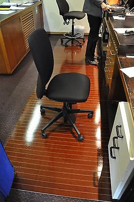 WOODEN NATURAL BAMBOO Office CHAIR MATS 115cm x 120cm $89 FREE FREIGHT