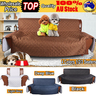 1/2/3 Seaters Quilted Slipcover Lounge Kid Pet Water Dirt Resistant Cover Shield