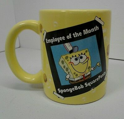 "SpongeBob SquarePants ""Employee Of The Month"" Coffee Mug Cup Enesco 12 oz."