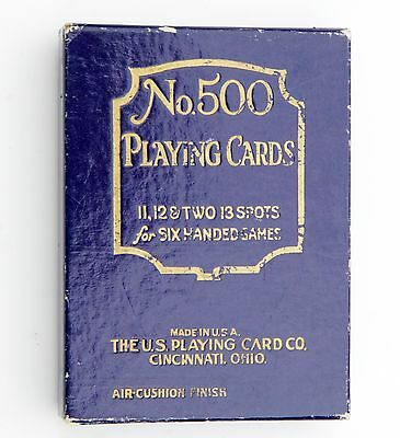 Vintage No. 500 U.S. Playing Cards for Six-Handed Game - Complete Deck