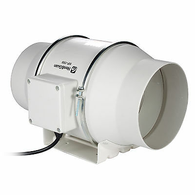 "6"" Mixed Flow Inline Duct Fan Bathroom Extractor Booster Ventilation 312CFM"