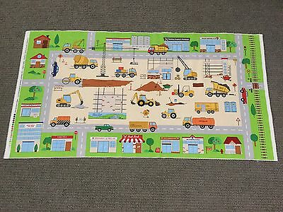Construction Site Connector Playmat Fabric Panel Digger Heavy Machine Dump Truck