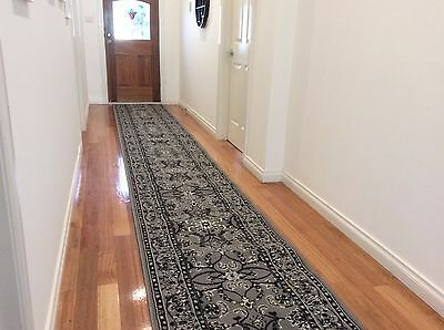 Hallway Runner Hall Runner Rug Traditional Grey 5 Metres Long FREE DELIVERY