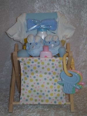 Baby Bathtime Gift Basket ~ Boy ~ Baby Shower ~ Centerpiece ~ Free Shipping