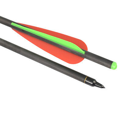 """20"""" Pure Carbon Arrows Crossbow bolts 8.8X7.62mm for Archery Hunting Outdoor"""