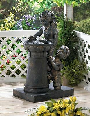 Playtime Park Outdoor Water Fountain With Water Pump, Outdoor Garden Fountain