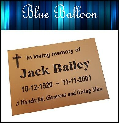 Weatherproof Large Memorial Plaque -175mmx125mm - Engraved, Personlised
