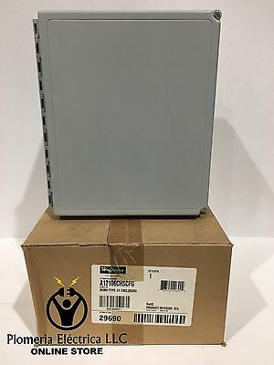 NEW!!! Hoffman A12106CHSCFG Type 4X 12x10x6 Wall Mount Junction Box Enclosure