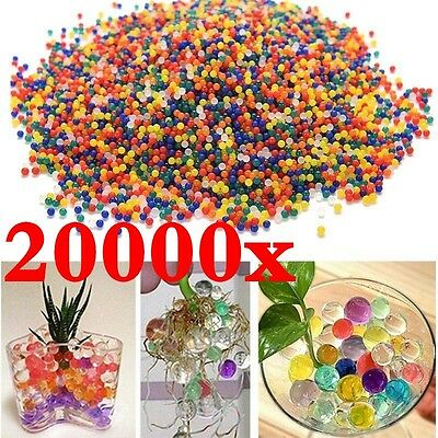 20000pcs Water Balls Crystal Pearls Jelly Gel Bead for Orbeez Toy Refill Colors