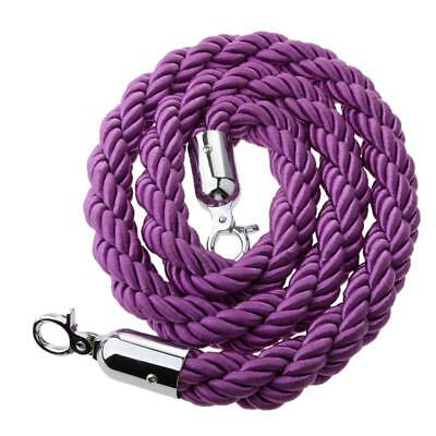 1.5m Twisted Barrier Rope Queue Crowd Control for Posts Stands Purple