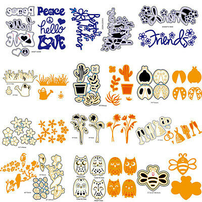 Metal DIY Cutting Dies Stencil Scrapbooking Paper Embossing Christmas Gift Card