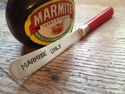 "Vintage Hand Stamped Butter Knife ""Marmite Only"" Birthday, Christmas Gift"
