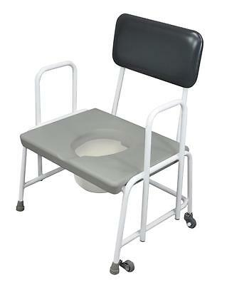 Aidapt Dorset Devon and Suffolk Bariatric Commode with Fixed Arms