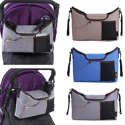 Mummy Bag Baby Stroller Organizer Pushchair Diaper Nappy Storage Hanging  Bags