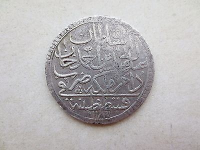ANTIQUE OTTOMAN EMPIRE VERY RARE SILVER COIN ANTIQUE ISLAMIC TURKEY 43.5mm #Q