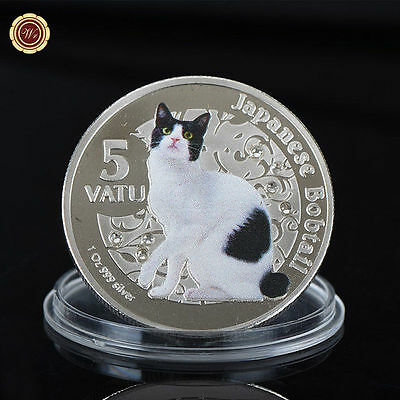 WR 5 Vatu Japanese Bobtail Vanuatu Silver Colored Coin 60th B-Day Gifts For Her