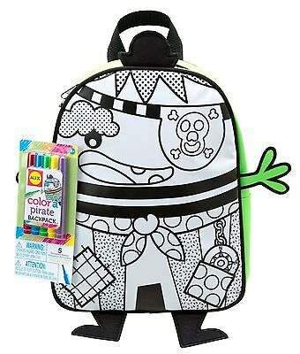ALEX Toys COLOUR Your Own Color A PIRATE BACKPACK Rucksack KIDS Crafts Craft Bag