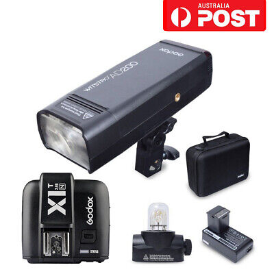 AU Godox AD200 200W 2.4G TTL HSS Flash Speedlite + X1T-N Trigger Kit For Nikon