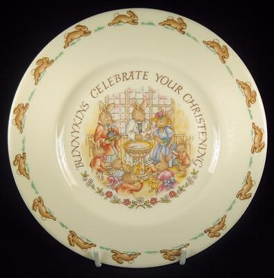 Royal Doulton 'Bunnykins Celebrate Your Christening' Plate