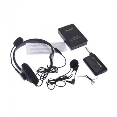 Portable Wireless Headset Microphone System Mic FM Transmitter Receiver