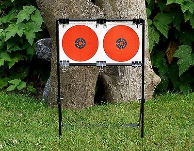 Airgun Air Rifle twin Target Holder STAND Bench Rest Shooting  Bisley Gamo Cards